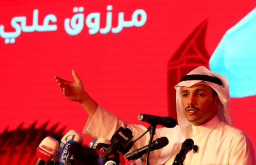Le candidat Marzouq al-Ghanem durant un meeting de campagne le 22 novembre 2016 à Koweit city © Yasser Al-Zayyat AFP/Archives