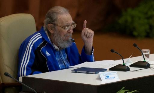 Fidel Castro à la clôture du Congrès du parti communiste cubain le 19 avril 2016 à La Havane © ISMAEL FRANCISCO ACN/AFP/Archives