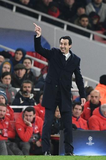 Le coach du PSG Unai Emery lors du choc contre Arsenal à l'Emirates Stadium, le 23 novembre 2016 © Justin TALLIS AFP/Archives