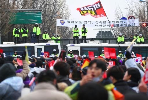 Manifestation le 26 novembre 2016 à Séoul pour réclamer la démission de la présidente Park Geun-Hye  © JUNG Yeon-Je AFP