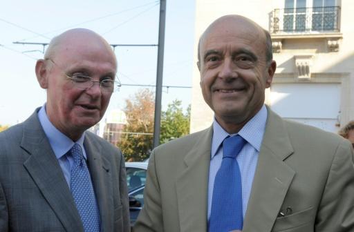Patrick Stefanini et Alain Juppé le 30 septembre 2011 à Bordeaux © JEAN-PIERRE MULLER AFP/Archives