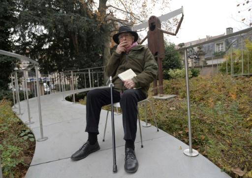 Le dessinateur et  illustrateur Tomi Ungerer, le 24 novembre 2016 à Strasbourg © PATRICK HERTZOG AFP