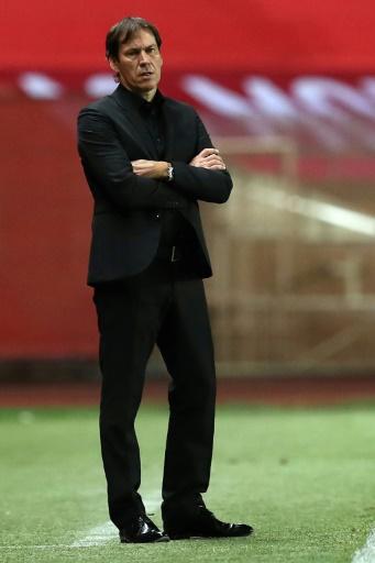 L'entraîneur marseillais Rudi Garcia lors du déplacement de son équipe à Monaco, le 26 novembre 2016  © VALERY HACHE AFP