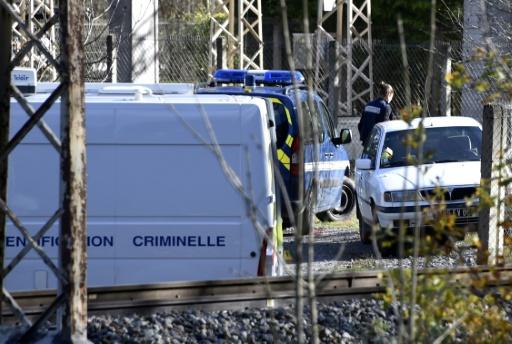 Des véhicules de gendarmerie le 27 novembre 2016 à l'endroit, entre Tarascon-sur-Ariege et Ussat, où un gendarme a été mortellement blessé en Ariège par un automobiliste  © PASCAL PAVANI AFP