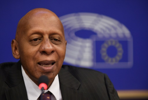 L'opposant au régime cubain Guillermo Fariñas, ancien militaire et grand spécialiste des grèvesdela faim, à Bruxelles, le 12 octobre 2016 © JOHN THYS AFP/Archives