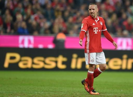 Franck Ribéry lors d'un match avec le Bayern face au Hertha Berlin, le 21 septembre 2016 à Munich © CHRISTOF STACHE AFP/Archives