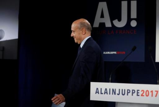 Alain Juppé, le 27 novembre 2016 à Paris © PATRICK KOVARIK AFP