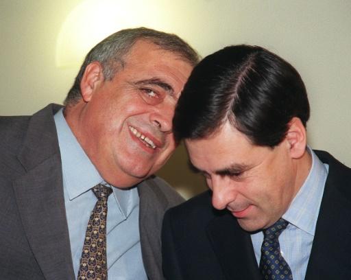 Philippe Séguin et François Fillon, le 13 décembre 1998 à Paris © JOEL SAGET AFP/Archives