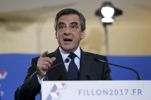 François Fillon lors de l'allocution prononcée à son QG de campagne au soir de la primaire de la droite et du centre le 27 novembre 2016 à Paris © Thomas SAMSON AFP