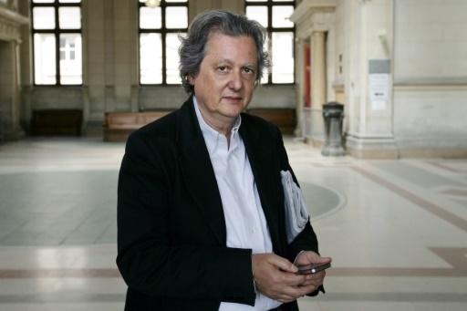 """Le journaliste et cofondateur du site """"Rue89"""", Pierre Haski, le 19 mai 2011 au tribunal de Paris © ALEXANDER KLEIN AFP/Archives"""