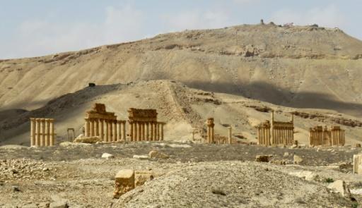 Photo prise le 27 mars 2016 des ruines du site antique de Palmyre en Syrie après le passage de l'EI © STRINGER AFP/Archives
