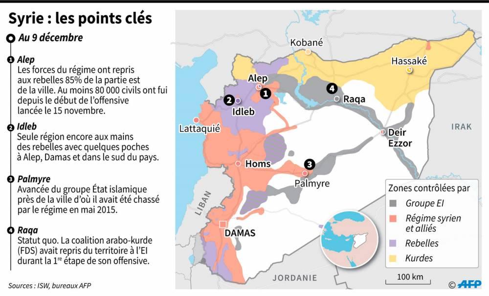 Syrie : les forces en présence ©  AFP