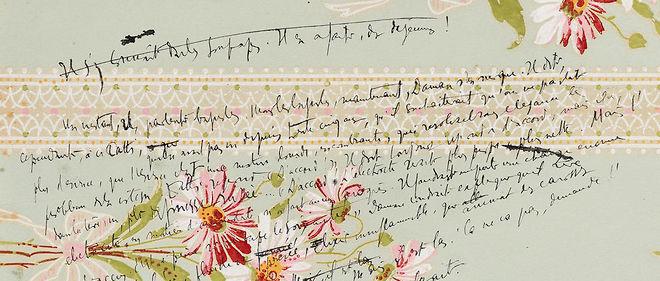 Notes d'Audiberti sur des chutes de papier peint.