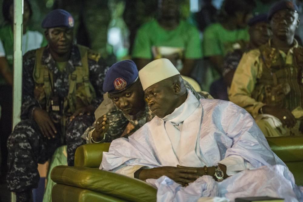Yahya Jammeh, le 29 novembre 2016, lors de son dernier meeting de campagne à Banjul. © MARCO LONGARI AFP PHOTO / MARCO LONGARI