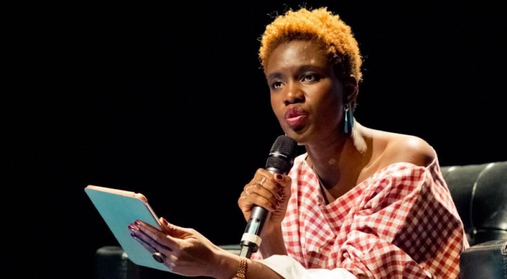 Conférence de Rokhaya Diallo.  ©  Caroline Dutrey