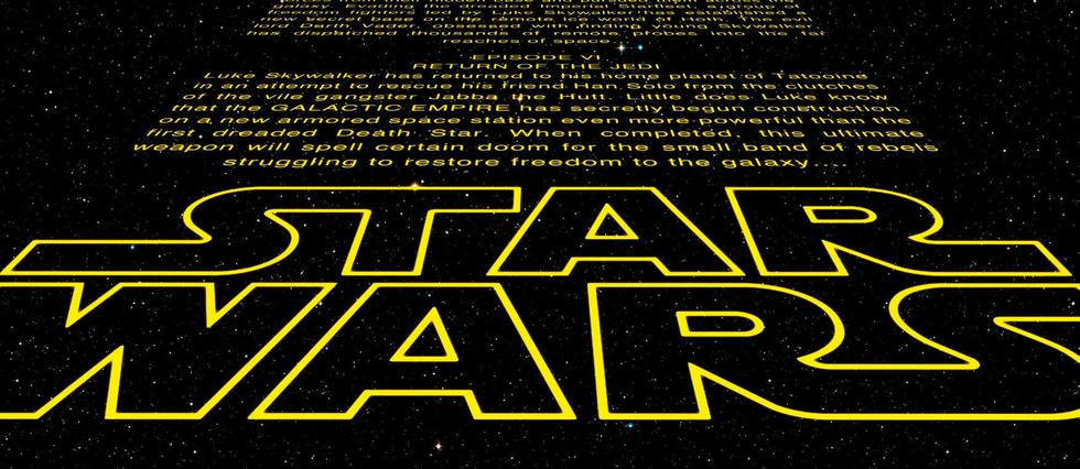Créé en 1977, le générique d'ouverture déroulant est devenu indissociable de Star Wars.