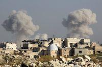 Alep, l'ancienne capitale économique de la Syrie et fief de la rébellion contre Bachar el-Assad, sous les bombes. ©KARAM AL-MASRI