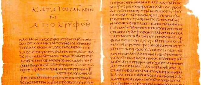 Évangile selon Thomas et le Livre des secrets de Jean (Apocryphe de Jean). Codex II des manuscrits de Nag Hammadi.