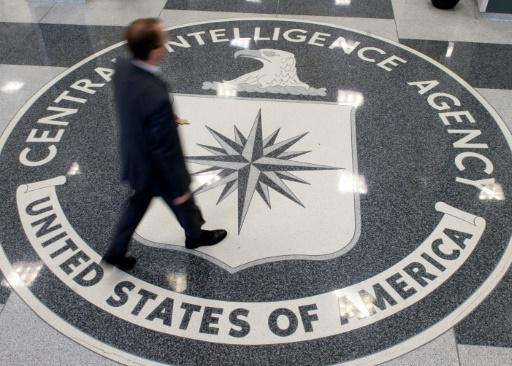 Le logo de la CIA photographié le 14 oût 2008 dans le quartier général en Virginie © SAUL LOEB AFP/Archives