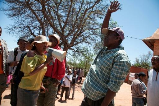 Manifestation anti-chinoise à Soamahamanina, à Madagascar, le 6 octobre 2016 © RIJASOLO AFP/Archives
