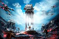 L'affiche du jeu vidéo Star Wars : Battlefront qui compte désormais une extension Rogue One