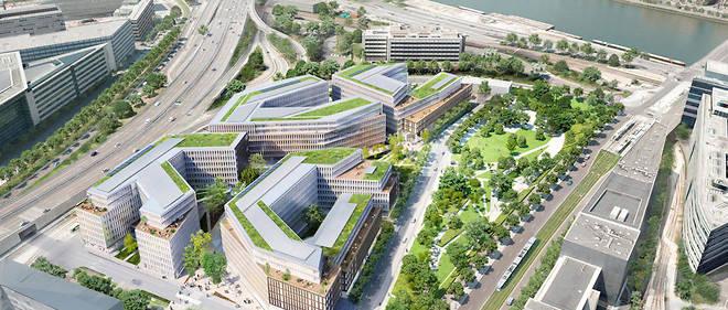 Le projet Qu4drans, 86 000 mètres carrés de bureaux et 8 500 d'espaces vers, est mené par le cabinet Wilmotte.