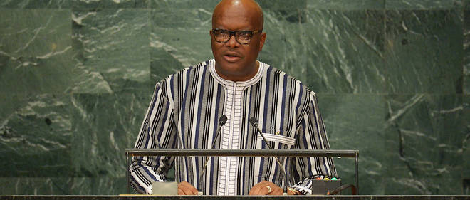 Le president Roch Marc Christian Kabore, lors de la 71e session de l'Assemblee generale des Nations unies a New York, le 22 septembre 2016.