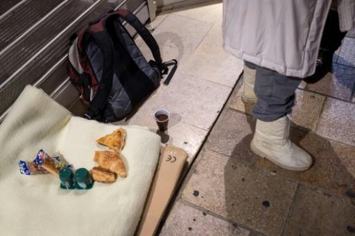 Distribution de la nourriture aux SDF à Tours, dans le centre de la France, le 22 décembre 2016 © GUILLAUME SOUVANT AFP/Archives