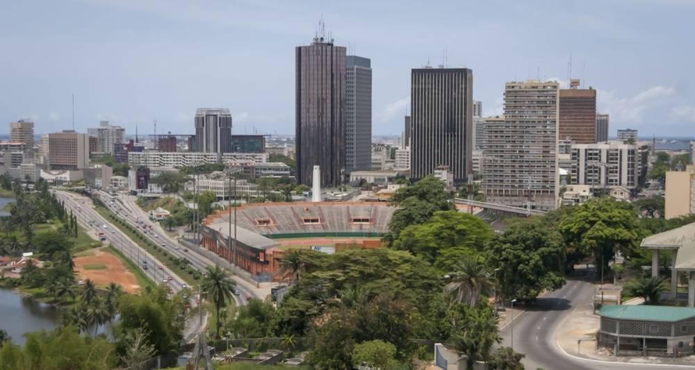 La Côte d'Ivoire, championne de la croissance ces trois dernières années. Vue sur Abidjan.  ©  AFP