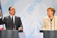 Le 15 mai 2012, le président tout juste élu se rend à Berlin pour rencontrer son homologue Angela Merkel. Parmi ses promesses de campagne, renégocier le Pacte de stabilité. Ce sera