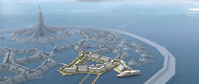 La << cite flottante >> du Seasteading Institute.