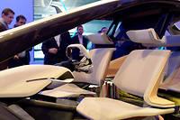 Le concept intérieur d'une voiture autonome BMW au salon de l'électronique de Las Vegas. ©Andrej Sokolow