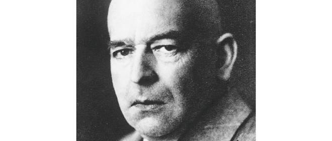 """Oswald Spengler. Auteur du """"Déclin de l'Occident"""", à la fin de la Première Guerre mondiale."""