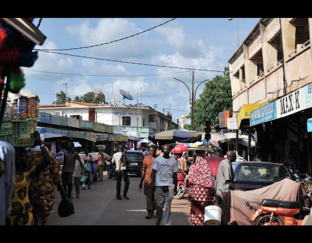 Dans le centreville de Bamako. ©  AFP