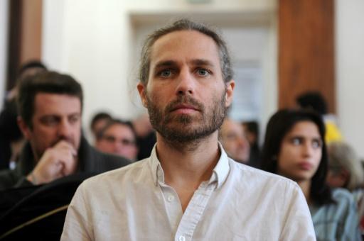 Le militant altermondialiste Jon Palais lors de son procès à Dax, dans le sud-est de la France, le 9 janvier 2017 © IROZ GAIZKA STR/AFP