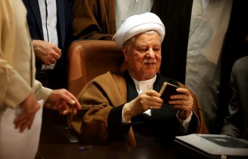 L'ex-président iranien Akbar Hachémi Rafsandjani, l'un des hommes clés de la République islamique, le 21 décembre 2015  à Téhéran  © ATTA KENARE AFP/Archives
