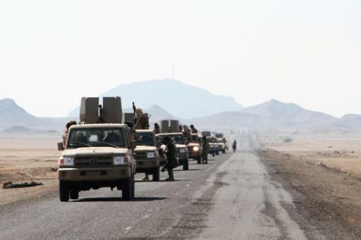 Les forces progouvernementales lors d'une opération contre les rebelles houthis dans la région de Dhubab, le 7 janvier 2017 au Yémen © SALEH AL-OBEIDI AFP