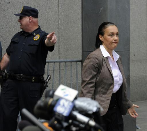 La journaliste Laurence Haïm à New York le 29 juin 2009. © TIMOTHY A. CLARY AFP/Archives