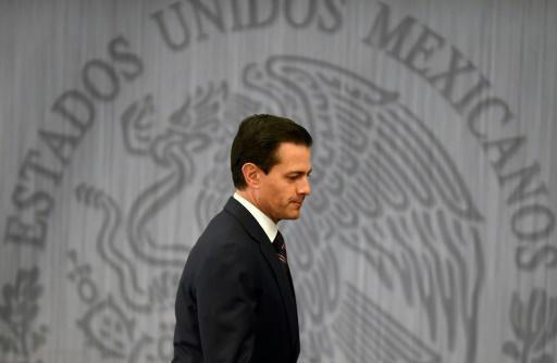 Le président méxicain Enrique Pena Nieto à Mexico le 4 janvier 2017 © ALFREDO ESTRELLA AFP/Archives