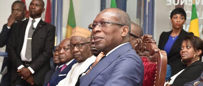 Le président béninois Patrice Talon lors de sa visite à la Bourse régionale des valeurs mobilières (BRVM) à Abidjan, le 11 janvier 2017. La chose économique préoccupe au premier chef l'homme politique Patrice Talon.
