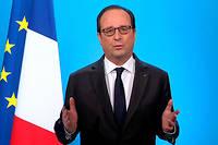 Jusqu'au bout, le président François Hollande aura tenté de sauver son bilan. ©Reuters TV / Reuters