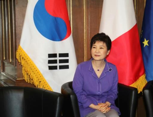 L'ex-présidente de Corée du Sud Park Geun-Hye, lors d'une visite à Paris, le 2 juin 2016  © JACQUES DEMARTHON AFP/Archives