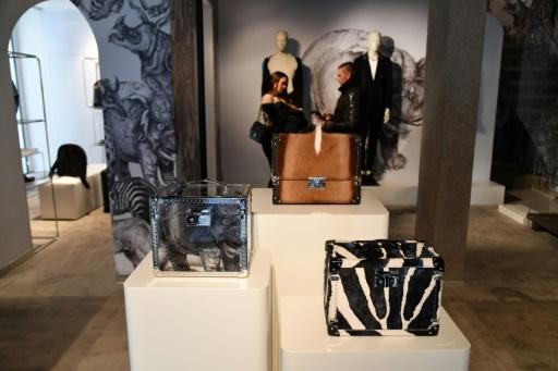 Pop-up store Louis Vuitton pendant la Fashion Week de Milan le 15 janvier 2017  © Alberto PIZZOLI AFP