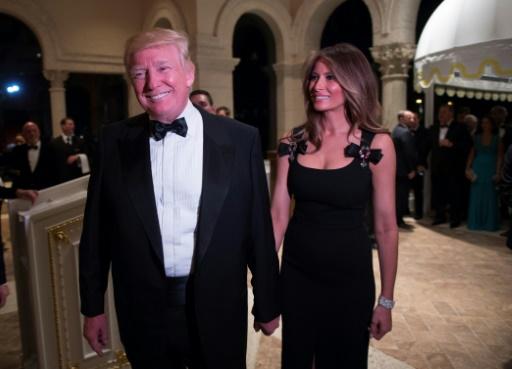 Melania (d) et Donald Trump, le 31 décembre 2016 à Palm Beach, en Floride © DON EMMERT AFP/Archives