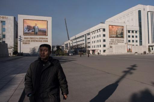 Vue générale des Studios artistiques de Mansudae à Pyongyang le 2 décembre 2016 © Ed JONES AFP