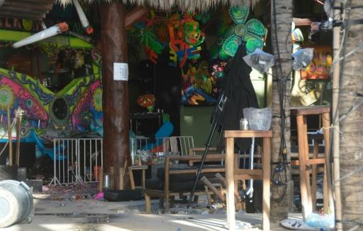 La discothèque Blue Parrot où s'est produite une fusillade, le 16 janvier 2016 à Playa del Carmen, au Mexique ©  AFP
