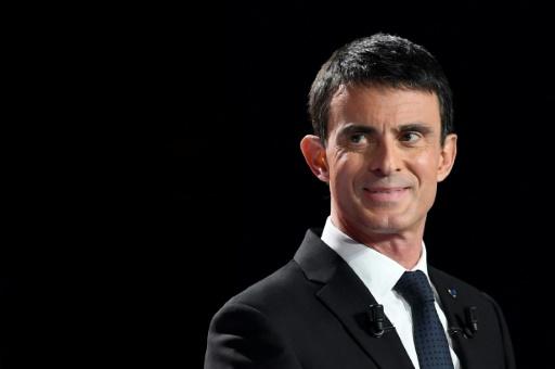 L'ex-Premier ministre Manuel Valls et candidat à la primaire du PS lors du deuxième débat télévisé, le 15 janvier 2017 © bertrand GUAY AFP