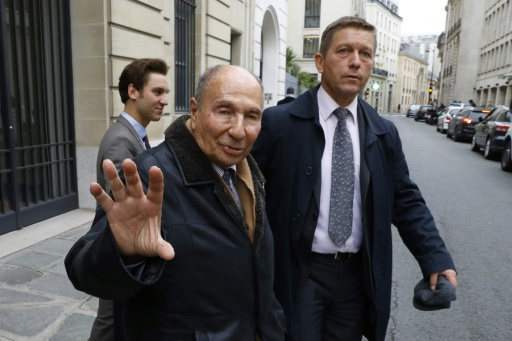 Serge Dassault le 22 novembre 2016 à Paris  © Patrick KOVARIK AFP/Archives