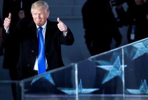Donald Trump au Lincoln Memorial le 19 janvier 2017 à Washington © Brendan Smialowski AFP
