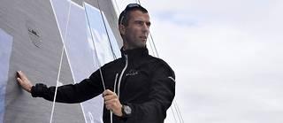 Le skipper Armel Le Cléac'h à bord de